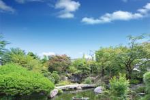 徹底的に純和風に拘った日本庭園